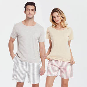 Cotton Pajamas Japanese-Style Nightwear Sleepwear Couples Women Summer Pj-Set Simplicity