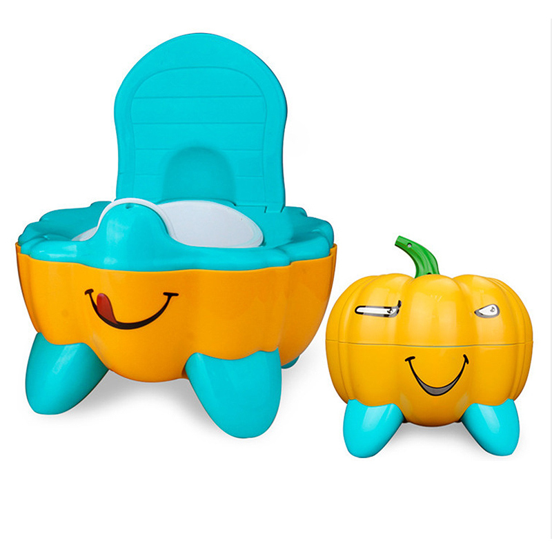 New Pumpkin Toilet Kid Infant Baby Toilet Small Drawer Child Toilet Seat Cute Pumpkin Shape Potty Urinal Child Potty