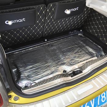 5mm mata dźwiękowa samochodu Proofing Deadener izolacja cieplna izolacja akustyczna mata Pad dla Smart 451 fortwo Smart 453 fortwo forfour tanie i dobre opinie TPZLTWI Trunk Aluminium naklejka 0inch Insulation Pad cartoon Alumina fiber+ Muffler cotton Kreatywne naklejki Jest dostarczana