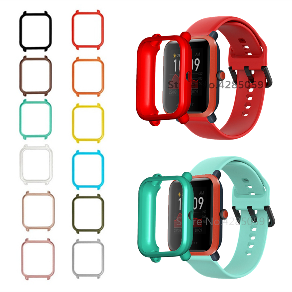 TPU Protective Case For Amazfit Bip S / Bip Watch Protector Cover Frame For Xiaomi Huami Amazfit Bip Lite 1S / Bip2 Bumper Shell