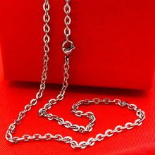 Men Women Chain Width 2.3mm 3mm  Links Chain Fashion Necklace Stainless Steel Necklace for Pendant Locket astronaut pendant necklace galaxy universe spaceman meditation trinket retro stainless steel chain men necklace