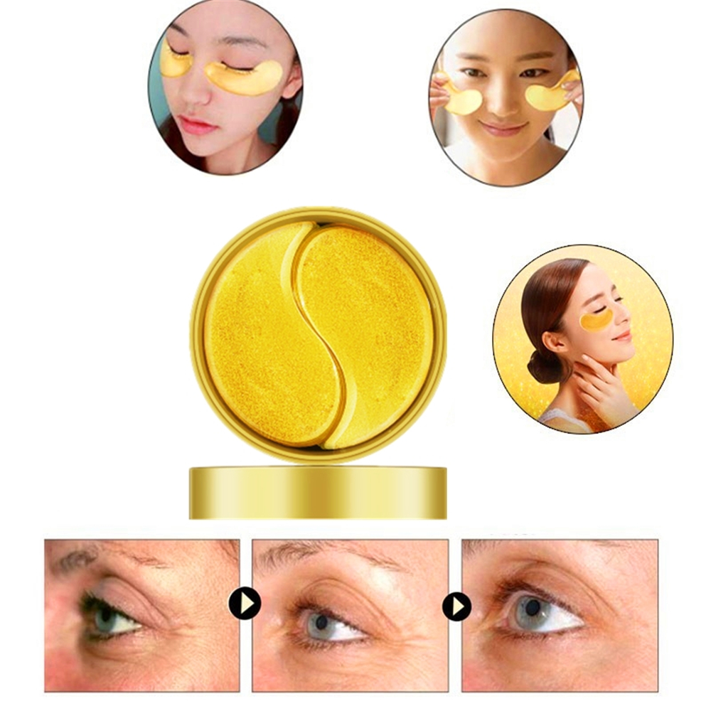Gold Eye Mask Patches For Eyes Korean Reduce Dark Circles And Eye Bags Hyaluronic Acid Patches Anti-Aging Lifting Skin Care