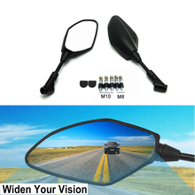 Motorcycle Rear view Mirrors For Yamaha MT 07 MT09 R25 R3 MT-25 MT-03 Street Bike Rearview 8MM 10MM For Kawasaki Z750 Z800 Z1000 for kawasaki z750 r3 z800 r1 r6 mt 07 mt09 motorcycle throttle booster handle clip grips throttle clamp cruise aid control grips