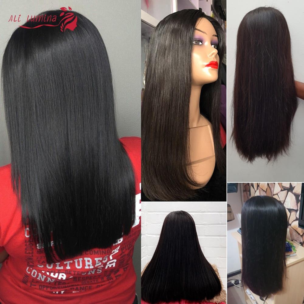 Double Drawn Straight Hair Bundles With Closure Ali Lumina 5