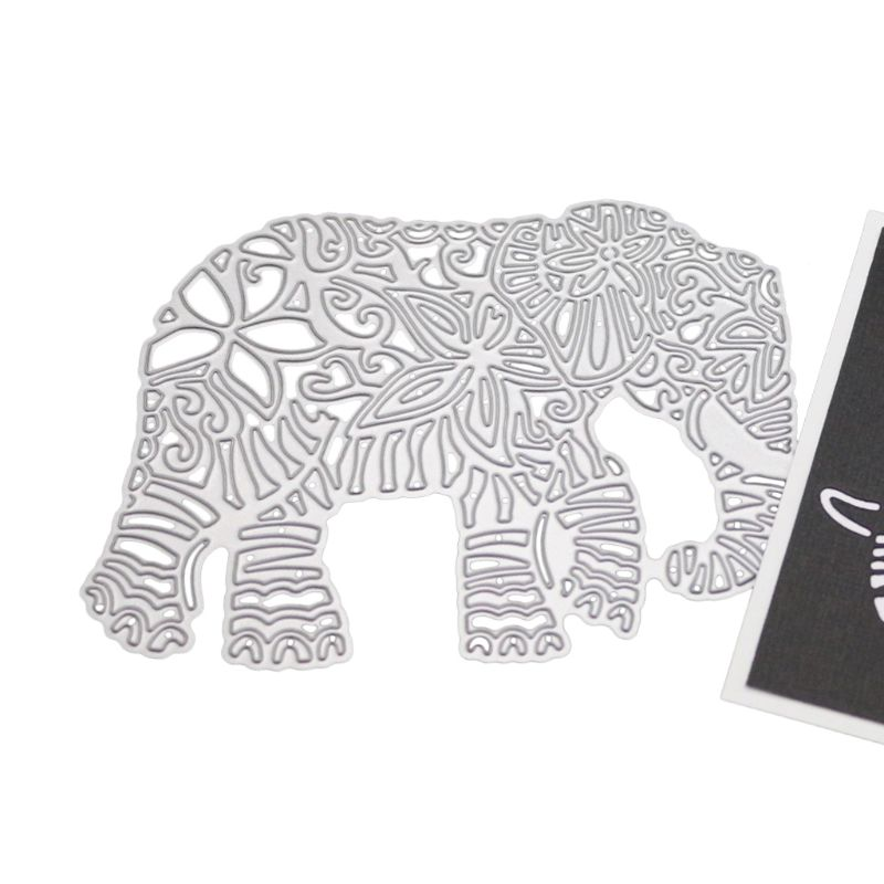 Elephant Metal Cutting Dies Stencil DIY Scrapbooking Album Stamp Paper Card Embossing Decor Craft