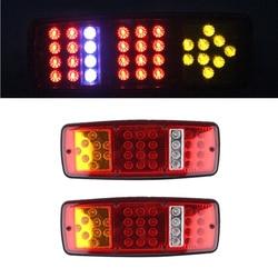 2pcs 24V Led Trailer Rear Light High Brighness Amber Arrows Indicator Turn Signal Lamp 33 Leds for Truck Lorry Trailer