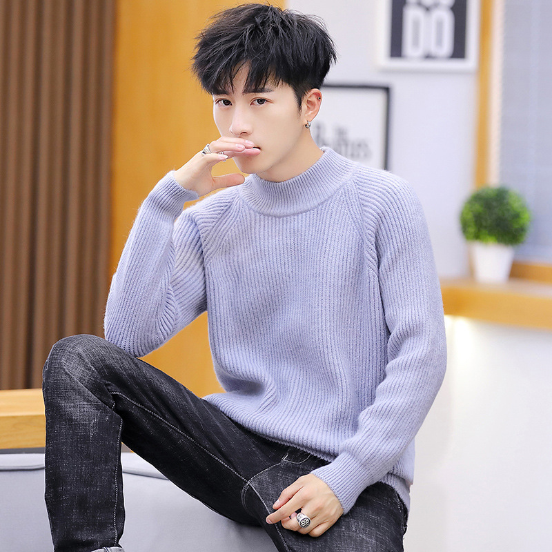 Sweater Men White Black Grey Green Long Sleeve Winte Turtleneck Pullovers Turtleneck Casual Mens Sweaters New Fashion