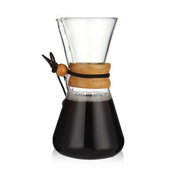 Heat Resistant Glass Coffee Pot Coffee Brewer Cups Counted Coffee Maker Barista Percolator