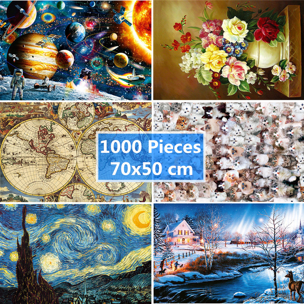 Jigsaw Puzzle 1000 Pieces Adult 50*70 Cm Diy Educational Puzzle Games Toys Assembling Picture Landscape Puzzles For Adults Kids