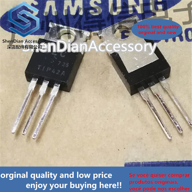 10pcs 100% Orginal TIP42A 42 TO-220 POWER TRANSISTORS COMPLEMENTARY SILICON Real Photo