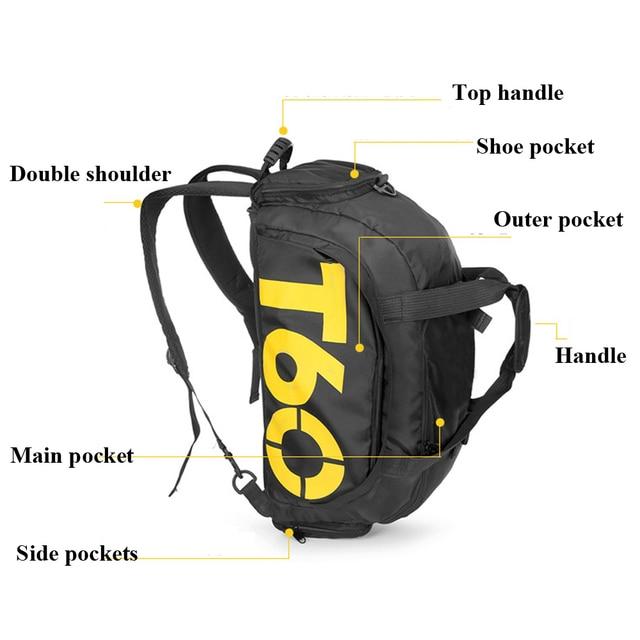 Dry Water Wet Separation Men Fitness Bag Waterproof Gym Sport Women Bag Outdoor Fitness Portable Ultralight Yoga Sports Bag 3
