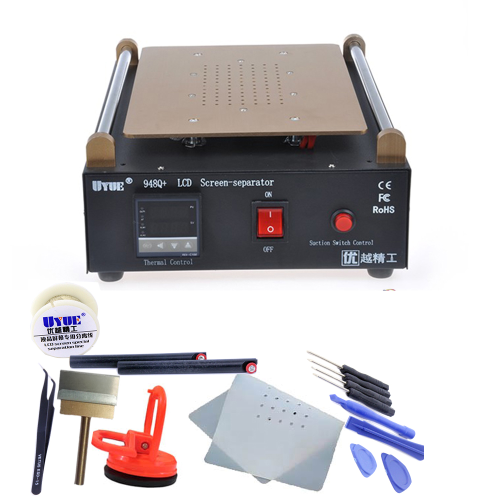 Max 11 inches Built-in Vacuum Pump Mobile phone LCD Screen Separator Machine Glass Touch Screen Refurbished Uyue 948Q