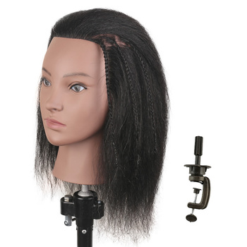 Hair Practice Head Mannequin Heads For Hairdressing Head Doll Training Head For Hairdresser Mannequin Head With Hair For Styling practice braiding mannequin head with hair black training head hair doll head mannequins for sale hairdressing head female