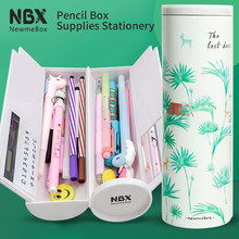 2020 New design creative high capacity pencil case panda penguin Kawaii animals cat for kids gifts school Stationery supplies