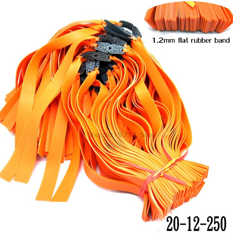 5pcs 1.2mm Flat Rubber Band Thicknes Slingshot Hunting Catapult Natural Latex Flat Elastic Resilient For Shooting