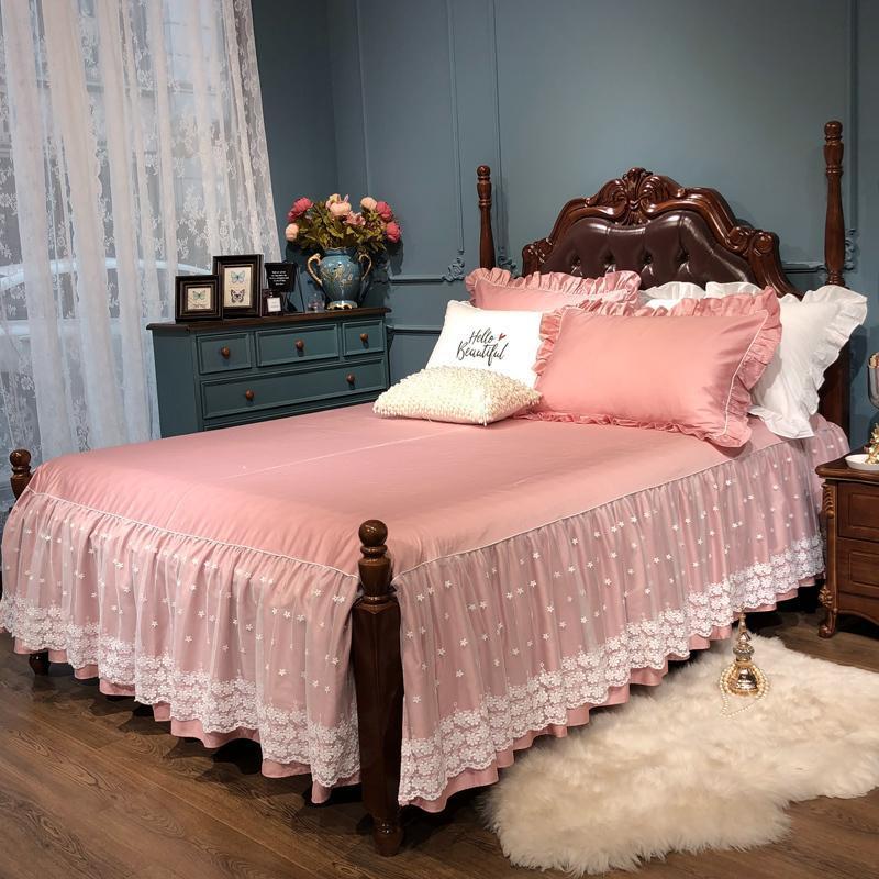 150X20 0 cm/180X200cm кровать юбка роскошная белая кружевная кровать юбка 18 Inch падение Романтические девушки постельное белье элегантный 4 Угловая с