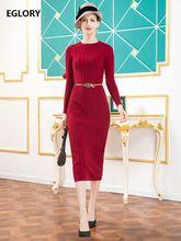 Платье Свитер размера плюс Осень зима 2020 трикотажное женское