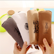 Retro Pencil Bag Fabric Case Box School Office Supplies Stationery Pouch Purse Storage Cute Makeup Bags