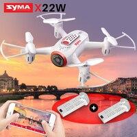SYMA resmi X22W RC helikopter Drone Quadcopter kamera FPV Wifi gerçek zamanlı iletim başsız modu Hover fonksiyonu Drones|rc helicopter drone|helicopter dronerc helicopter -