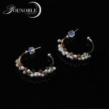 Trendy Natural Fresh Water Baroque Pearl Earring 925 Sterling Silver Stud Earring For Women Fine Jewellery
