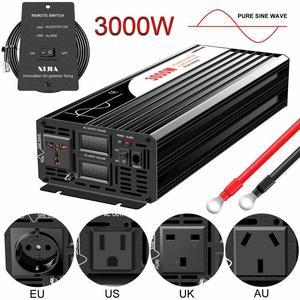 Image 1 - Pure Sine Wave Inverter 3000W New DC 12V 24V 48V to 110V 220V Car  Solar  Power Inverter
