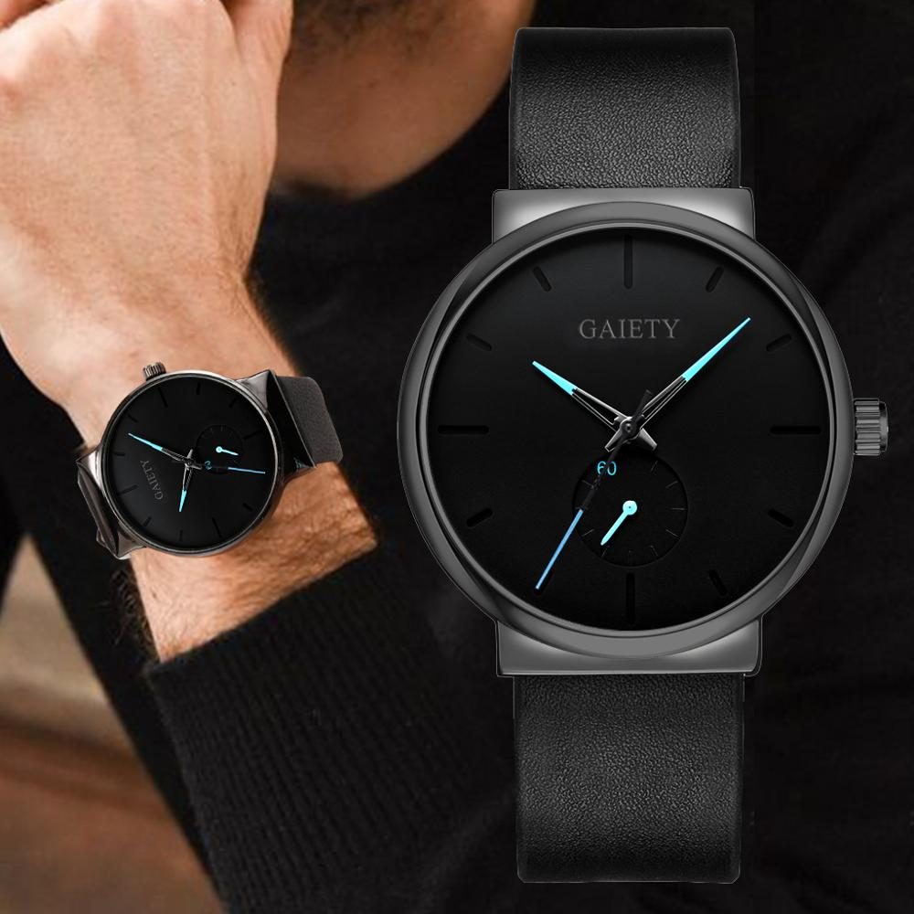 Men's Watch Casual Sport Minimalistic Montre Homme Watches Quartz WristWatch Leather Clock Relogio Masculino Erkek Kol Saati