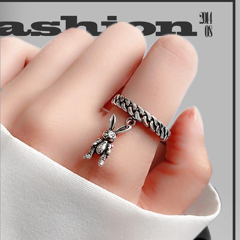 Новые модные очаровательные кольца в виде кролика, фаланги, бохо, кольца для вечерние, Коктейльные ювелирные изделия в стиле панк, подарок д...