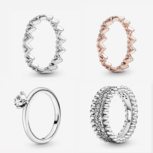 2020 День Святого Валентина 925 пробы серебряные женские кольца