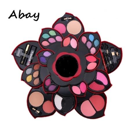 abay mulheres novas paletas de maquiagem jogo da sombra paleta nude ouro rotativa caixa de