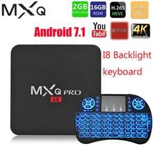 Mxqプロ4 18kアンドロイド7.1スマートボックス4 18k hd 3D 2.4 3g wifi S905Wクアッドコアメディアプレーヤースマートtvボックス2ギガバイト16ギガバイトのアンドロイドテレビボックス