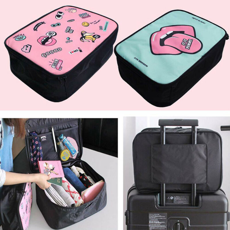 Multifunction Unique Lips Print Travel Cosmetic Bag For Women Makeup Bags Toiletry Organizer Female Waterproof Storage Cases