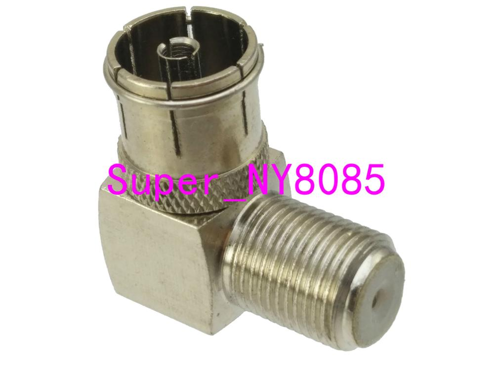 F TV Female Jack To IEC PAL DVB-T TV 9.5mm Female Right Angle Adapter Connector