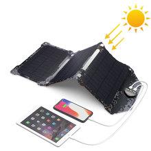 Wodoodporna ładowarka do paneli słonecznych na zewnątrz ładowarki słoneczne do iPhone 7 8 X Xr Xs Xs max Huawei P30 Xiaomi Samsung s9 LG Sony tanie tanio ALLPOWERS Panel słoneczny 253*300*13mm 9 9*11 8*0 5inch 5V21W-ETFE Monokryształów krzemu black iPhone Samsung Huawei Xiaomi Sony Nokia and son on