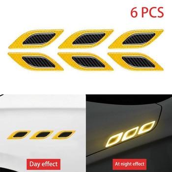 stickers for car 6Pcs/Set Car Reflective Strips Carbon fiber Car Sticker Truck Auto Motor Anti-Scratch Safety Warning Sticker Ca 8