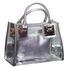 Hot 2020 pcv z tworzywa sztucznego torebki dla kobiet moda Tote Party torby torby na zakupy wielokrotnego użytku Casual Cart pojemna torba Tote bag tanie tanio coofit Skrzynki FLAP NONE WOMEN Versatile zipper SOFT