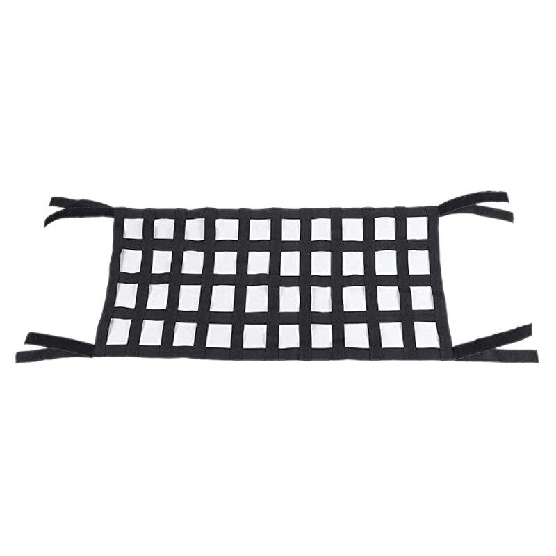 黒オックスフォード布多機能マジックステッカーの屋根収納ハンモック屋根保護ネット 4 × 10 メッシュジープラングラーのための適切な