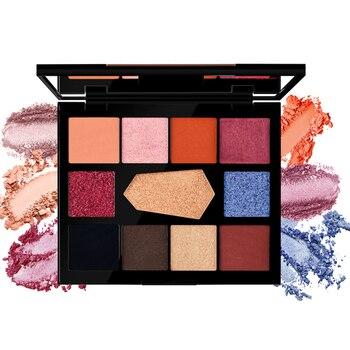 Paleta de sombras de ojos milletpepper DISCO & EDM, 11 colores, pigmento encantador, sombra de ojos, brillo mate, polvo, maquillaje duradero