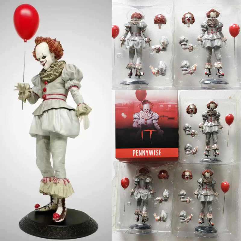 9inch New It Stephen King's Changeable Head Statue Pennywise Action Figure Collectible Model Toy