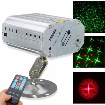 Stage LED Lighting Laser Projector Stage DJ Disco Light Voice Control Music Rhythm Flash Light For Club Dancing Party Lights tiptop tp e36 professional club dj disco projector stage laser light party green red voice control 20w shaking glass laser beam
