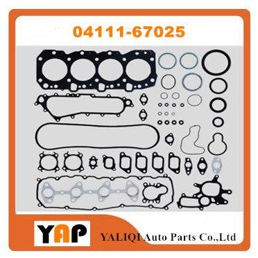 Комплект прокладок для двигателя для Toyota 4 runner Land Cruiser Prado Hi Lux KZN165 KZN190 1KZ 1KZT 1KZTE 04111 л 67025-