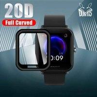 Película protectora de borde curvo 20D para reloj inteligente Amazfit Bip U / U Pro, Protector de pantalla suave, accesorios (no cristal)
