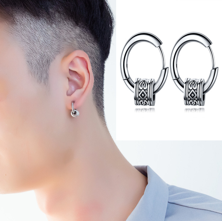 1 pcs Original design new tide male ear nail rock personality earrings hip hop punk men's earrings Skull Stainless Steel earrin