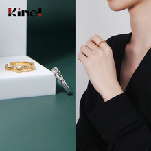 Kinel Twisted Minimalist Finger Rings for Women 925 Sterling Silver Jewelry Gift Female Ring 925 Silver Bijoux slovecabin real 925 sterling silver link chain lock finger rings for women vintage napkin wedding rings for women bijoux female