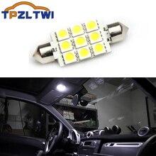 TPZLTWI 1x C10W C5W LED araba ampulü iç okuma lambası beyaz Smart Fortwo 451 2009 2014 araba modifikasyon aksesuarları