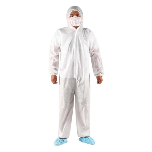 1PCS Disposable Isolation Suit Protective Clothing Dust-Proof Coveralls Safety Full Body Cover Clothes Suit protection ppe suit 1