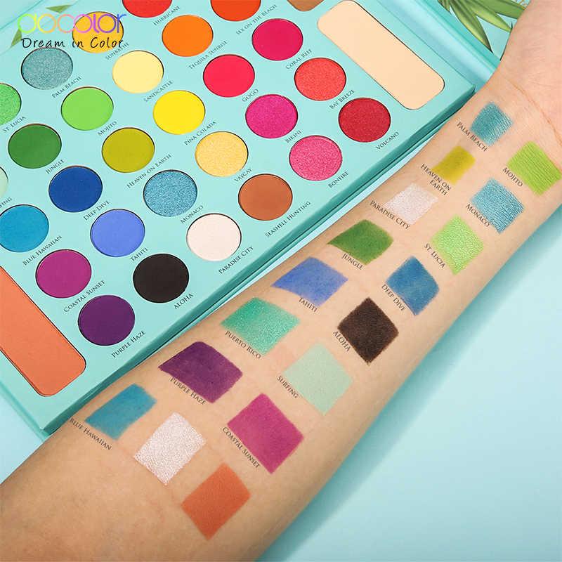 Docolor עירום צלליות צבעים 34 צבעים מט שמר גליטר צללית צבעים איפור אבקה עמיד למים פיגמנט קוסמטיקה