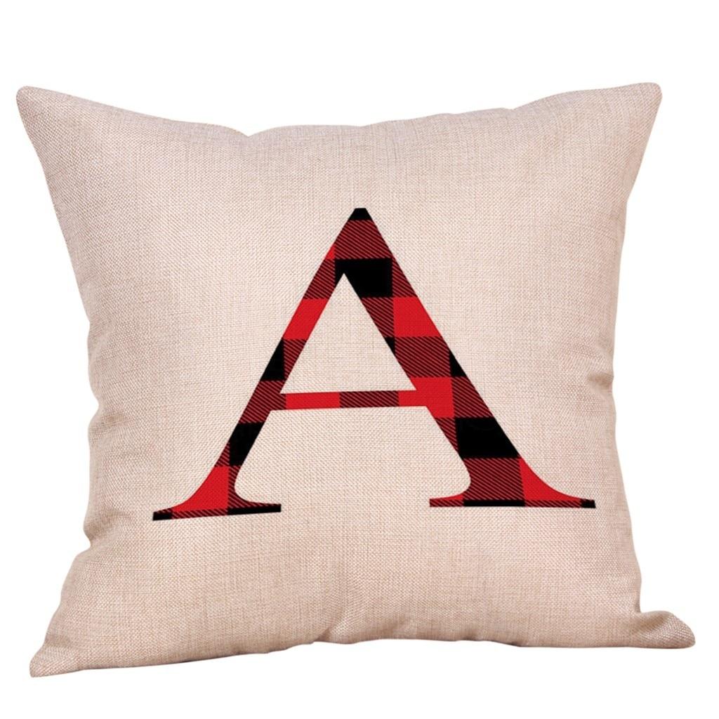 """18/"""" Cotton Linen Cushion Cover Home Decor Pillow Case Christmas Throw Style"""