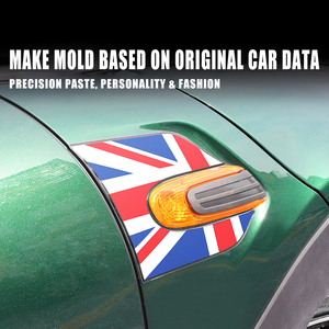 Image 4 - 2 قطعة 60 سنة سيارة بدوره إشارة درابزين الايبوكسي 3D الديكور غطاء ملصق ل ميني كوبر F54 كلوبمان F55 F56 F 54 اكسسوارات السيارات