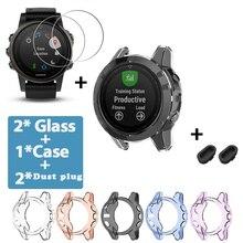Мягкий защитный чехол для Garmin Fenix 5 5S 5X Plus, защитный чехол, Пылезащитная заглушка, защита экрана часов для Fenix5 5S 5X, стекло