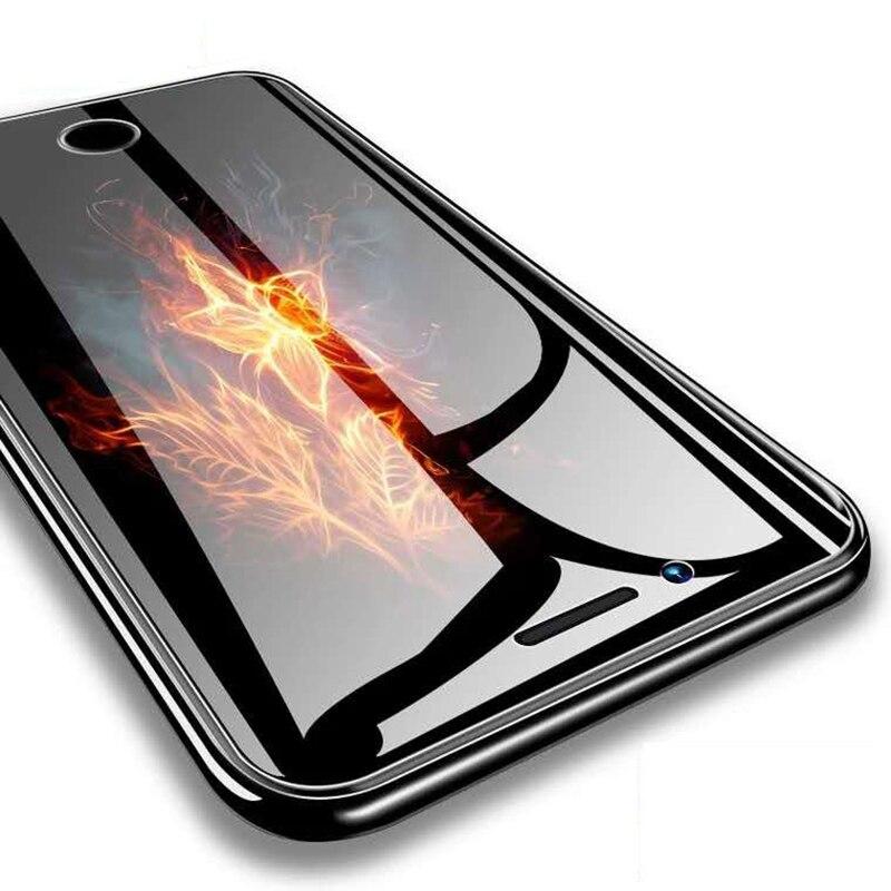 Высокое HD защитное закаленное стекло для iPhone 6 6s 7 8 Plus X XS MAX XR защита экрана Защитные стёкла и плёнки      АлиЭкспресс